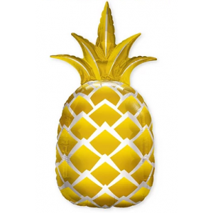 "44"" Foil Golden Pineapple (non-pkgd.), QF44SI57359 (0)"