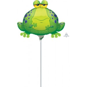 "Anagram Foil - Mini Shape- 14"" Foil Frog / Air Fill , A-A30-05939"