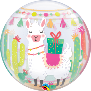 "Bubble 22"" Llama Birthday Party (Pkgd.), QBB-87742 (0) <10 個/包>"