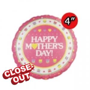 "4"" Foil Mother's Day (Silver Back) (Non-Pkgd.), QF04RI24318 (2)"