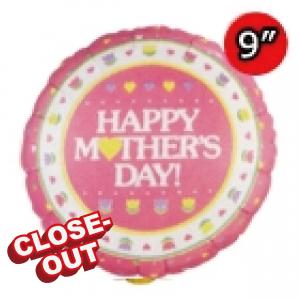 "9"" Foil Mother's Day (Silver Back) (Non-Pkgd.), QF09RI22549 (2)"
