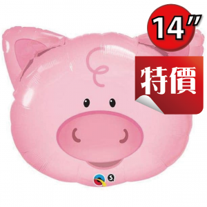 "14"" Foil Playful Pig / Air-fill / Valve , QF14SI41799V"
