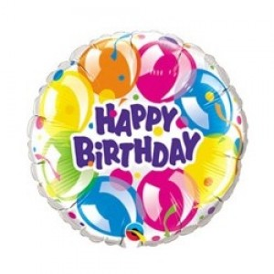 "9"" Foil Birthday Sparkling Balloons / Air-fill , QF09SI92521"