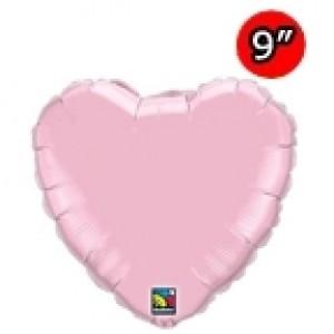"Foil Heart 9"" Pearl Pink / Air Fill (Non-Pkgd.), QF09HP54593 (0) <10 Pcs/包>"