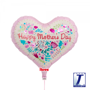 "Ibrex Jelly Heart 14"" 果凍心形 Mother's Day Floral Leaves (Non-Pkgd.), TKF14JHI313413"