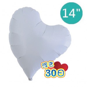 "Ibrex Sweet Heart 14"" 甜心形 White (Non-Pkgd.), TKF14SHP211403"