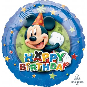 "Anagram Foil - 17"" Mickey Birthday Stars , A-S60-12485"