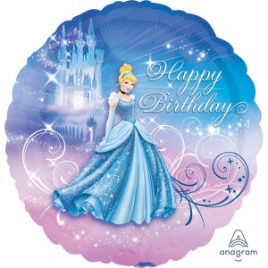"Anagram Foil - 17"" Cinderella Happy Birthday (pkgd.), A-S60-24815"