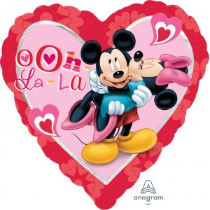 "Anagram Foil - 17"" Mickey & Minnie Heart (Heart Shape) , A-S60-25617"