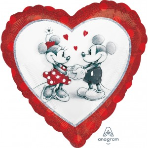 "Anagram Foil - 17"" Mickey & Minnie Love (Heart Shape) , A-S60-28040"