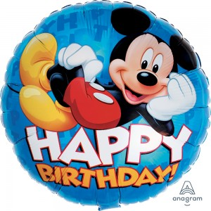 "Anagram Foil - 17"" Mickey Happy Birthday , A-S60-M81640"