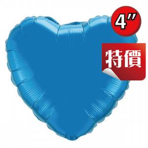 "Foil Heart 4"" Sapphire Blue / Air Fill (Non-Pkgd.), QF04HP23404 (2) <10 Pcs/包>"