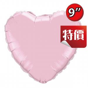"Foil Heart 9"" Pearl Pink / Air Fill (Non-Pkgd.), QF09HP54593 (2) <10 Pcs/包>"