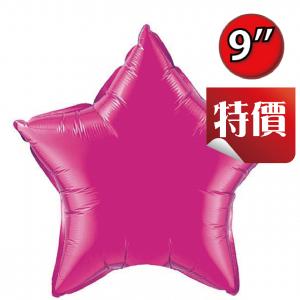 """Foil Star 9"""" Magenta / Air Fill (Non-Pkgd.), QF09SP99344 (2) <10 Pcs/包>"""