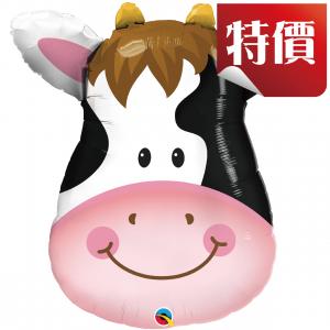 "32"" Foil Contented Cow (pkgd.), QF32SI16455 (2)"