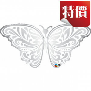 "44"" Foil Wedding Butterfly (non-pkgd.), QF44SI17087 (2)"
