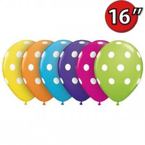 """16"""" Big Polka Dots (SE) - Tropical Assortment (50ct) , QL16RI27498 (0)"""