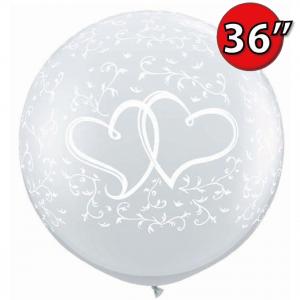 "36""(3') Entwined Hearts (BD) - Diamond Clear (2ct) , QL36RI31496 (0)"