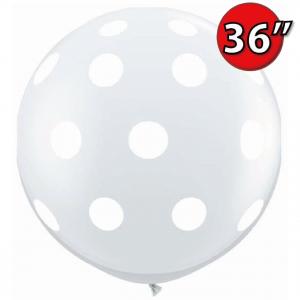 """36"""" (3') Big Polka Dots (BD) - Diamond Clear (2ct) , QL36RI33376 (0)"""