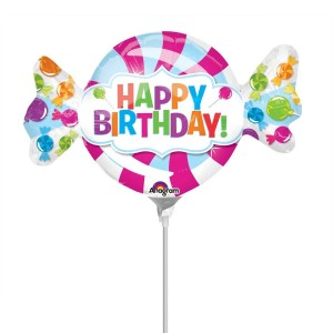 "Anagram Foil -Mini Shape- 14"" SweetShop Birthday Candy , A-A30-32622"