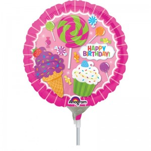 "Anagram Foil -Mini Shape-  9"" Sweetshop Birthday  , A-A15-32624"