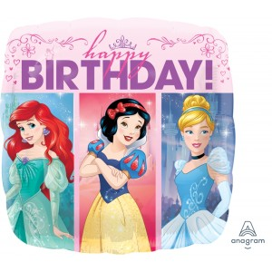 "Anagram Foil - 17"" Multi-Princess Dream Big HBD (Square Shape) , A-S60-33807"