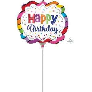 "Anagram Foil -Mini Shape-  9"" Rainbow Birthday Marquee , A-A30-35562"