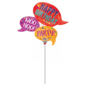 "Anagram Foil -Mini Shape- 14"" Happy Words , A-A30-33612"