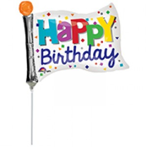 "Anagram Foil -Mini Shape- 12"" Happy Birthday Flag , A-A30-34585"