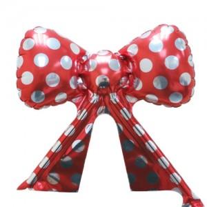 Foil - Mini Ribbon Polka Dot (Red w/Silver) / Air (non-pkgd.), TK-RB-22515