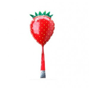 "SAG- 2.5"" Strawberry with Petit Balloon Stick , SAG-1502"