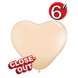 "Heart 6"" Blush , QL06HF92526 (D)"