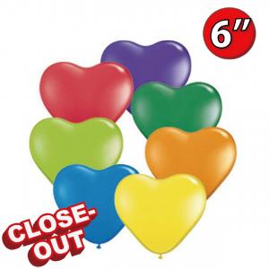 """Heart 6"""" - Carnival Assortment, QL06HS13763 (D)"""