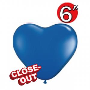 """Heart 6"""" Dark Blue , QL06HS13792 (D)"""