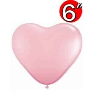 """Heart  6"""" Std Pink , QL06HS43642"""