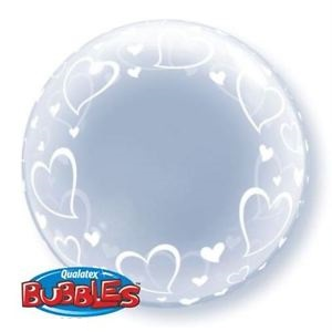 "Deco Bubble 24"" Stylish Hearts , *QBDECO-29505"