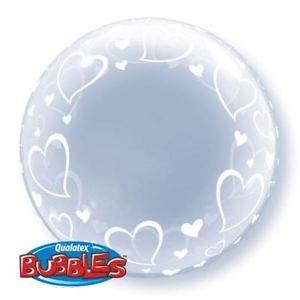 "Deco Bubble 24"" Stylish Hearts (Pkgd.), QBDECO-29505 (0) <10 個/包>"
