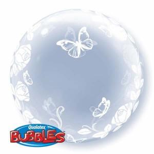 """Deco Bubble 24"""" Elegant Roses & Butterflies (Pkgd.), QBDECO-29718 (0) <10 個/包>"""