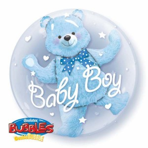 "Double Bubble 24"" Baby Blue Bear (Pkgd.), QBD-29486 (0) <10 個/包>"