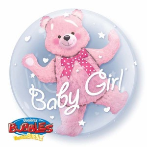 "Double Bubble 24"" Baby Pink Bear (Pkgd.), QBD-29488 (0) <10 個/包>"