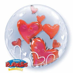 "Double Bubble 24"" Lovely Floating Hearts (Pkgd.), QBD-68808 (0) <10 個/包>"