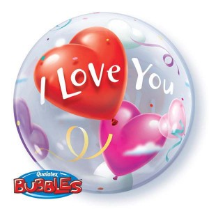 "Bubble 22"" I Love You Heart , *QBB-16676"