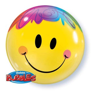 "Bubble 22"" Bright Smile Face (Pkgd.), QBB-35173 (0) <10 個/包>"