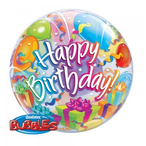 "Bubble 22"" Birthday Surprise , QBB-65407"