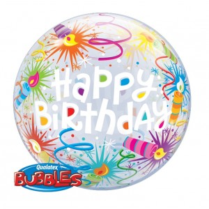 "Bubble 22"" Birthday Lit Candles , QBB-16658"