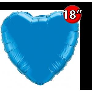 """Foil Heart 18"""" Sapphire Blue (Non-Pkgd.), QF18HP22612 (0) <10 Pcs/包>"""