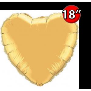 "Foil Heart 18"" Metallic Gold (Non-Pkgd.), QF18HP35432 (0) <10 Pcs/包>"