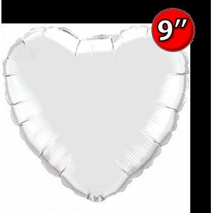 "Foil Heart 9"" Silver / Air Fill (Non-Pkgd.), QF09HP22464 (0) <10 Pcs/包>"
