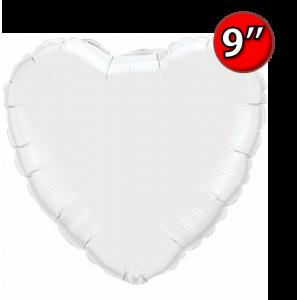 "Foil Heart 9"" White / Air Fill (Non-Pkgd.), QF09HP24111 (0) <10 Pcs/包>"