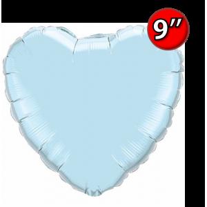 "Foil Heart 9"" Pearl Light Blue / Air Fill (Non-Pkgd.), QF09HP54584 (0) <10 Pcs/包>"